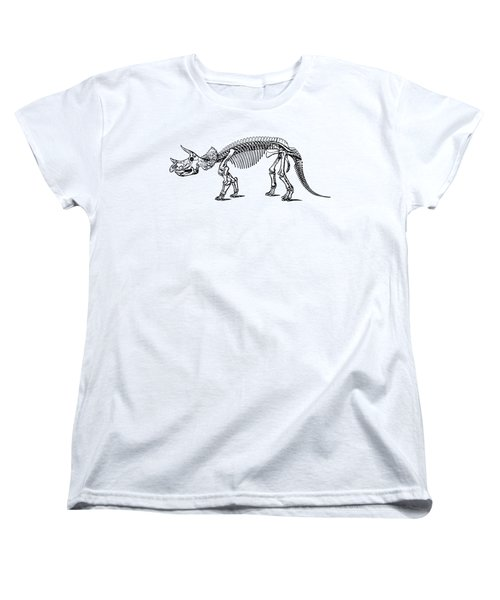 Triceratops Dinosaur Tee Women's T-Shirt (Standard Cut) by Edward Fielding
