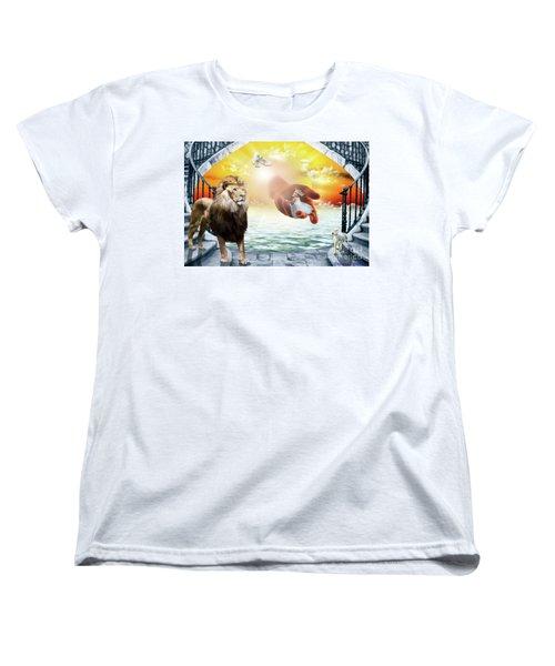 Women's T-Shirt (Standard Cut) featuring the digital art Triune Protection by Dolores Develde