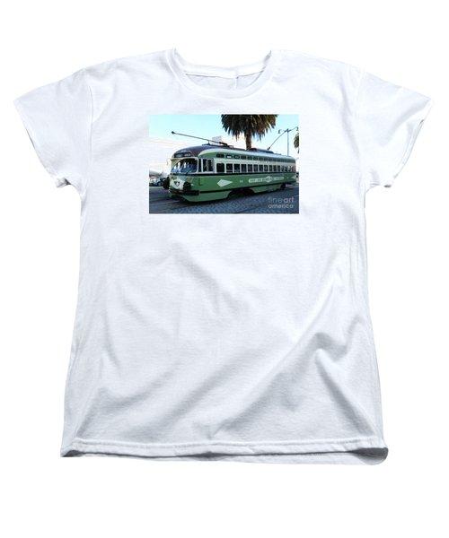 Women's T-Shirt (Standard Cut) featuring the photograph Trolley Number 1078 by Steven Spak