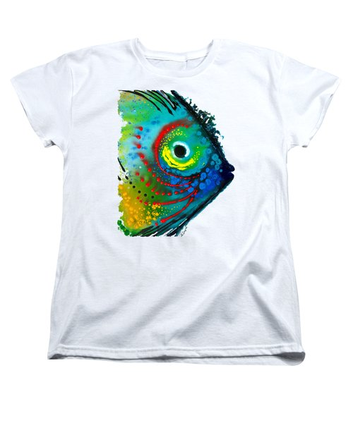 Tropical Fish - Art By Sharon Cummings Women's T-Shirt (Standard Cut) by Sharon Cummings
