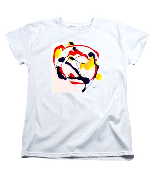 Women's T-Shirt (Standard Cut) featuring the painting Tropical Fish by Fred Wilson