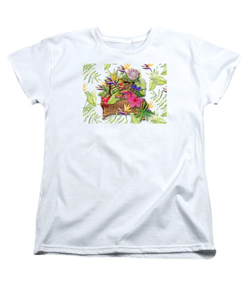 Tropicals In A Basket Women's T-Shirt (Standard Cut) by Larry Bishop