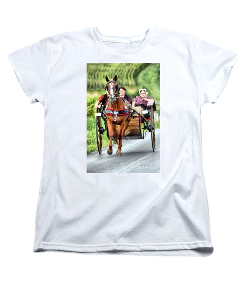 Women's T-Shirt (Standard Cut) featuring the photograph Trotting Along by Polly Peacock