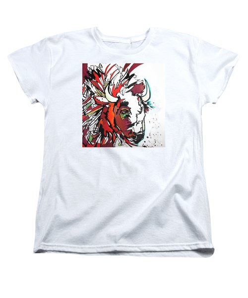Women's T-Shirt (Standard Cut) featuring the painting Trouble by Nicole Gaitan