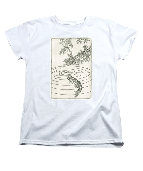 Trout Rising To Dry Fly Women's T-Shirt (Standard Cut)