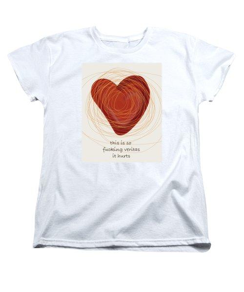 Women's T-Shirt (Standard Cut) featuring the painting True Love by Frank Tschakert