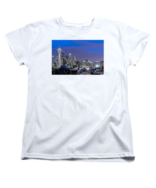True To The Blue In Seattle Women's T-Shirt (Standard Cut) by Ken Stanback
