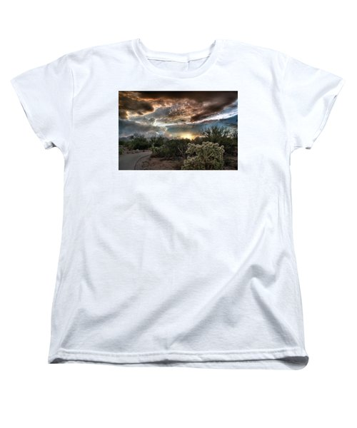 Tucson Mountain Sunset Women's T-Shirt (Standard Cut) by Lynn Geoffroy