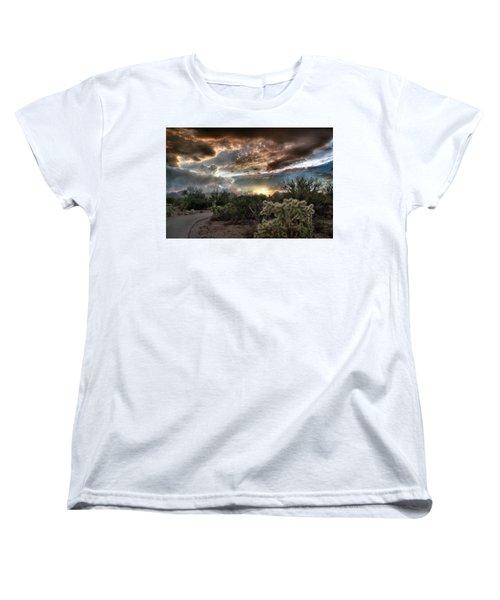 Tucson Mountain Sunset Women's T-Shirt (Standard Cut)