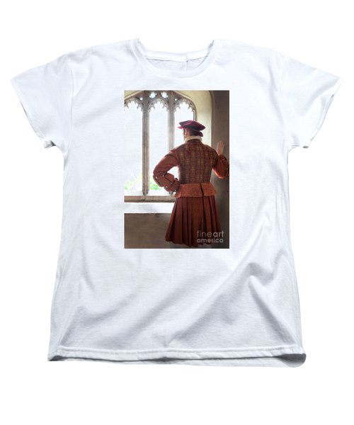Tudor Man At The Window Women's T-Shirt (Standard Cut) by Lee Avison