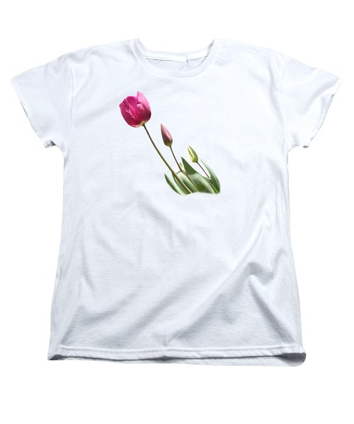 Tulips On Transparent Background Women's T-Shirt (Standard Cut) by Terri Waters