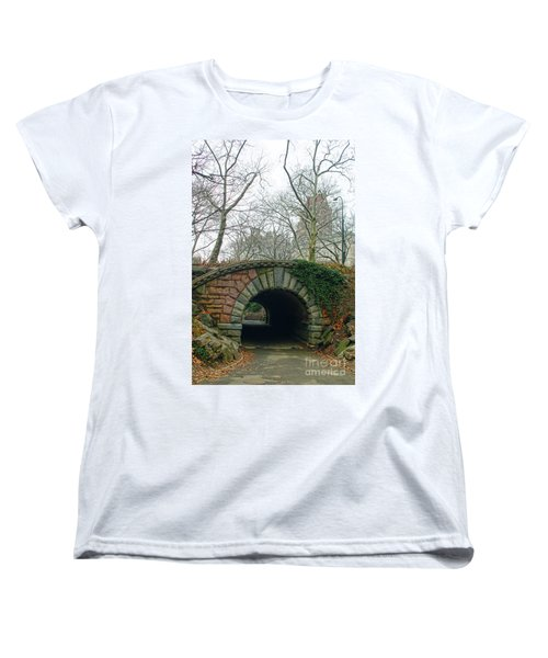 Women's T-Shirt (Standard Cut) featuring the photograph Tunnel On Pathway by Sandy Moulder