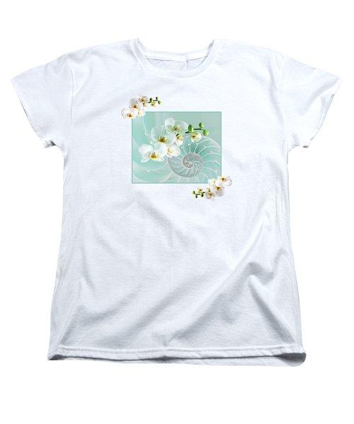 Turquoise Fusion Women's T-Shirt (Standard Cut) by Gill Billington