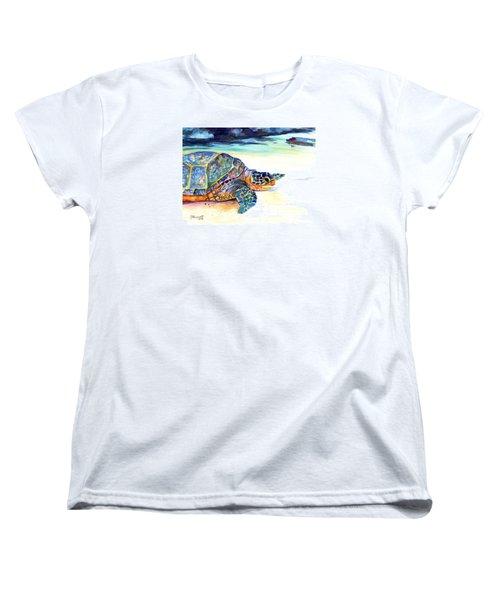 Turtle At Poipu Beach 2 Women's T-Shirt (Standard Cut)