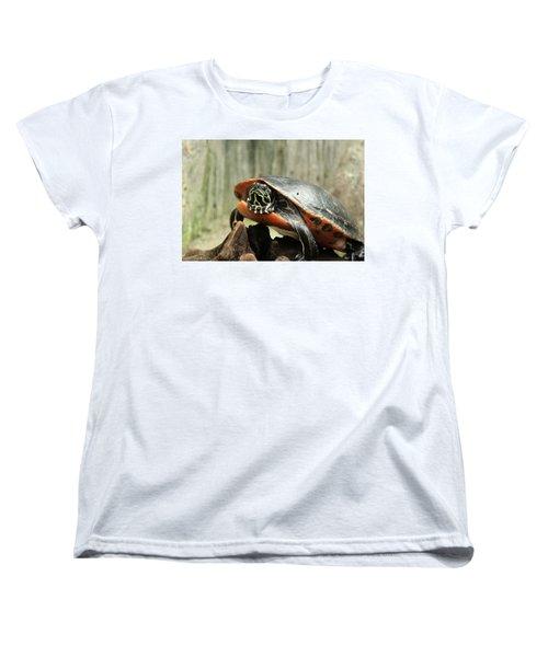 Turtle Neck Women's T-Shirt (Standard Cut) by David Stasiak
