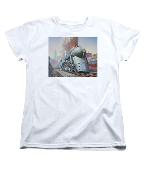 Women's T-Shirt (Standard Cut) featuring the painting Twenthieth Century Limited by Mike Jeffries