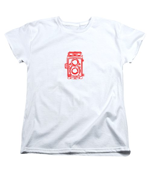 Women's T-Shirt (Standard Cut) featuring the drawing Twin Lens Camera by Setsiri Silapasuwanchai