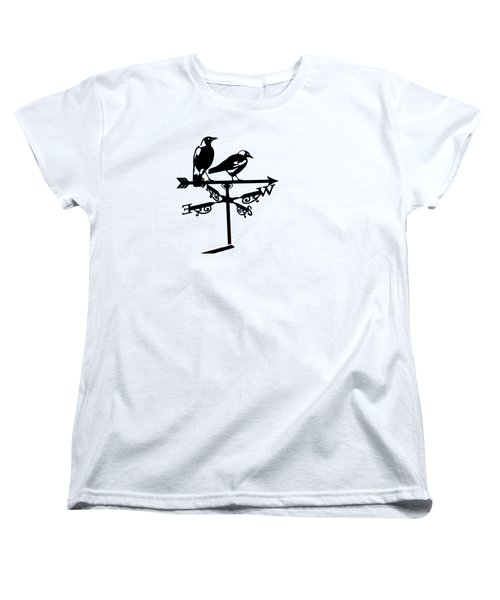 Two Magpies Women's T-Shirt (Standard Cut) by India Rattray