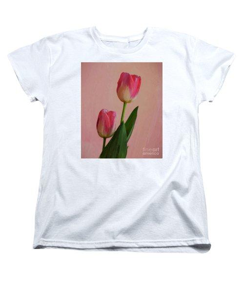 Two Tulips For You Women's T-Shirt (Standard Cut) by John Kolenberg