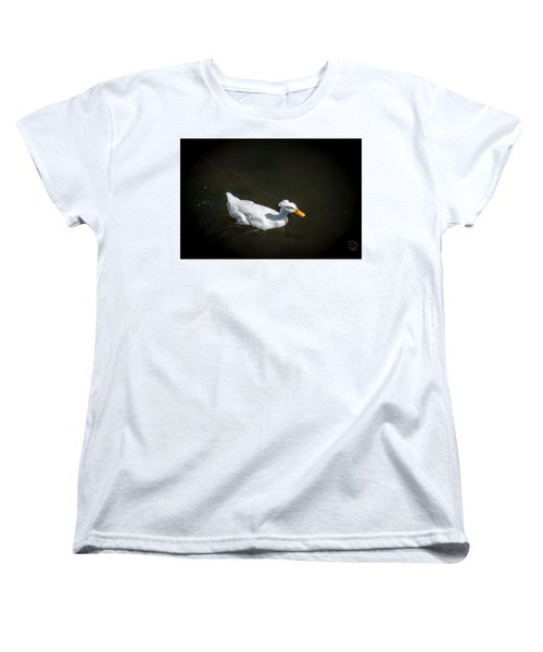 Women's T-Shirt (Standard Cut) featuring the photograph U Qwak Me Up by Daniel Hebard