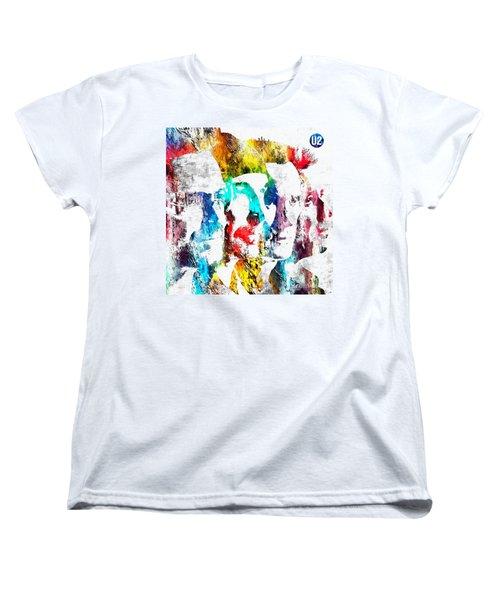 U2 Grunge Women's T-Shirt (Standard Cut) by Daniel Janda