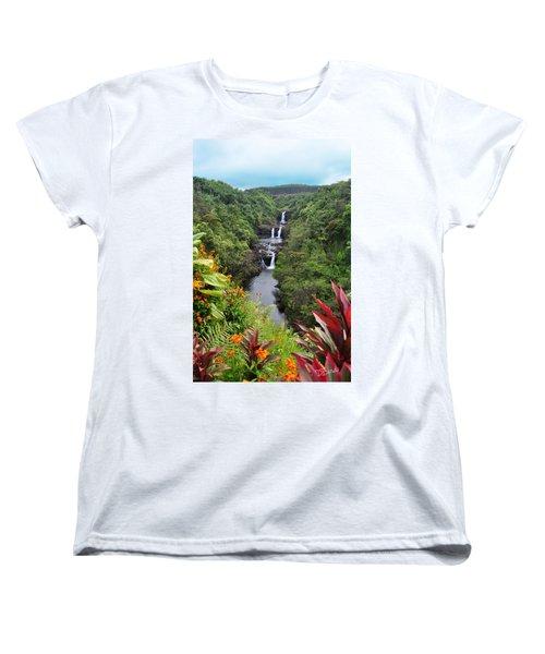 Umauma Falls Women's T-Shirt (Standard Cut) by Denise Bird