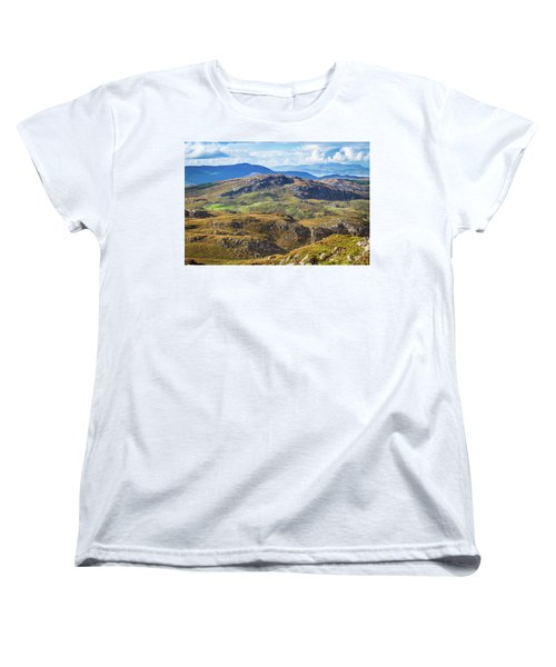 Women's T-Shirt (Standard Cut) featuring the photograph Undulating Landscape In Kerry In Ireland by Semmick Photo