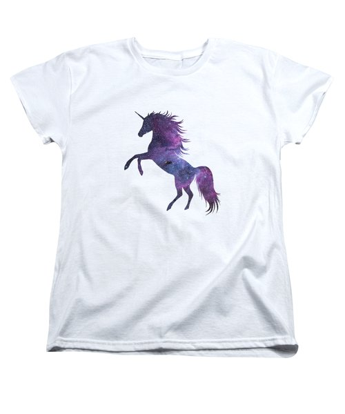 Unicorn In Space-transparent Background Women's T-Shirt (Standard Cut) by Jacob Kuch