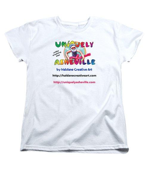 Uniquely Asheville Square Women's T-Shirt (Standard Cut) by John Haldane