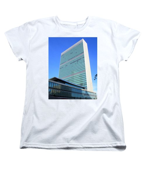 Women's T-Shirt (Standard Cut) featuring the photograph United Nations 1 by Randall Weidner