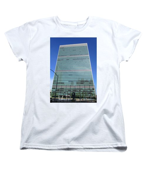 Women's T-Shirt (Standard Cut) featuring the photograph United Nations 3 by Randall Weidner