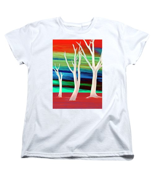 Women's T-Shirt (Standard Cut) featuring the photograph United Trees by Munir Alawi