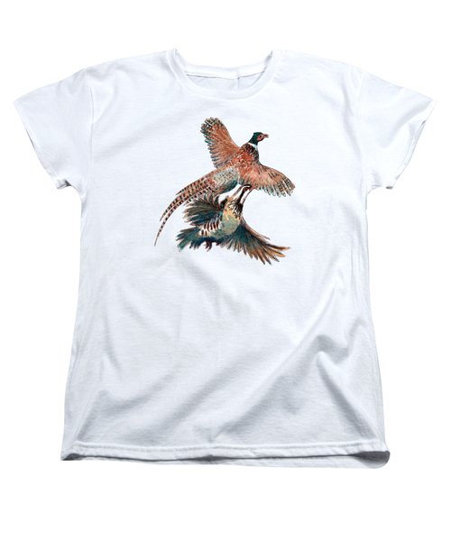 Up And Away Partridge And Pheasant Women's T-Shirt (Standard Cut) by Richard Skilton