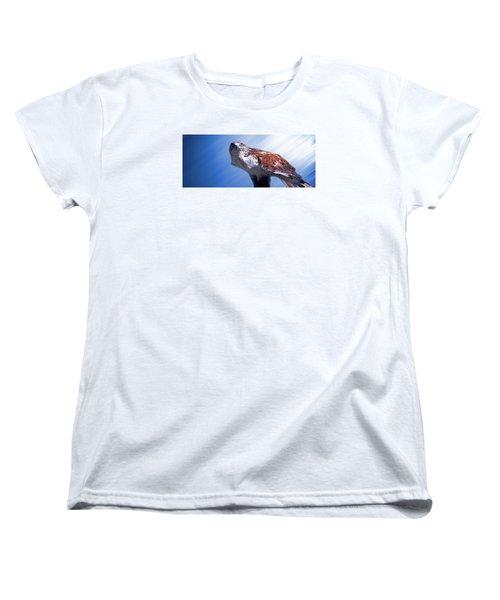 Upon His Perch Women's T-Shirt (Standard Cut) by Greg Slocum
