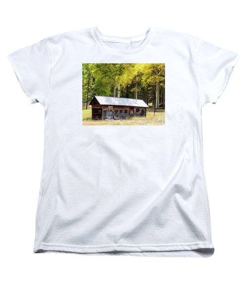 Uptop A Colorado Ghost Town Women's T-Shirt (Standard Cut) by Nadja Rider