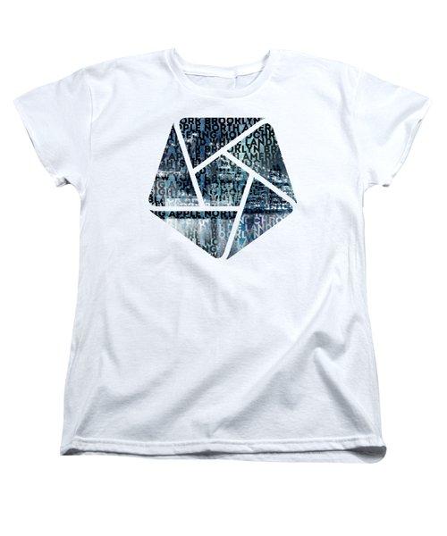 Urban-art Nyc Brooklyn Bridge I Women's T-Shirt (Standard Fit)