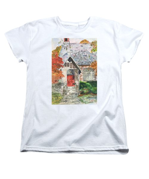 Urban  Church Sketching Women's T-Shirt (Standard Cut) by Lucia Grilletto