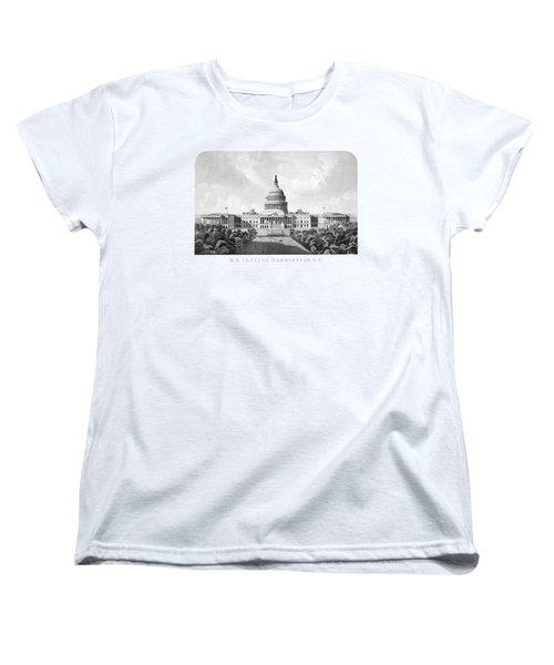Us Capitol Building - Washington Dc Women's T-Shirt (Standard Cut) by War Is Hell Store
