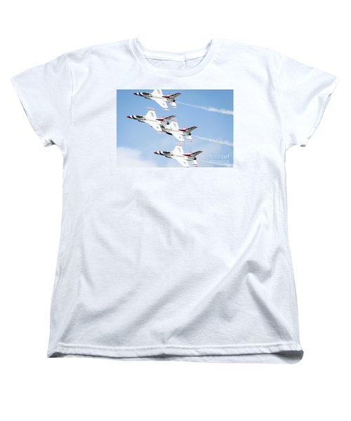 Usaf Thunderbirds Women's T-Shirt (Standard Cut) by Lawrence Burry