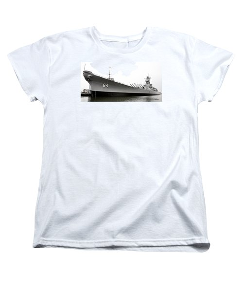 Uss Wisconsin - Port-side Women's T-Shirt (Standard Cut) by Christopher Holmes
