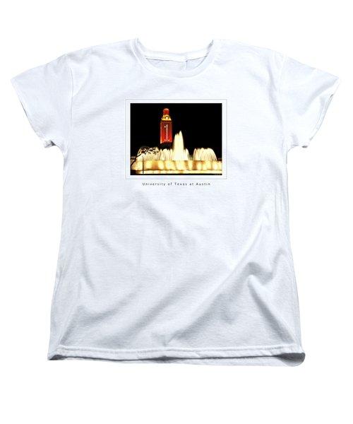Ut Tower Poster Women's T-Shirt (Standard Cut) by Marilyn Hunt