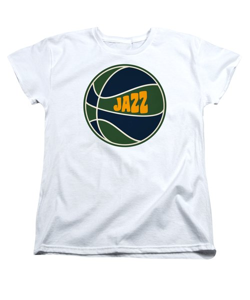 Women's T-Shirt (Standard Cut) featuring the photograph Utah Jazz Retro Shirt by Joe Hamilton
