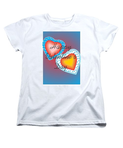 Women's T-Shirt (Standard Cut) featuring the painting Valentine Lace by Sherril Porter