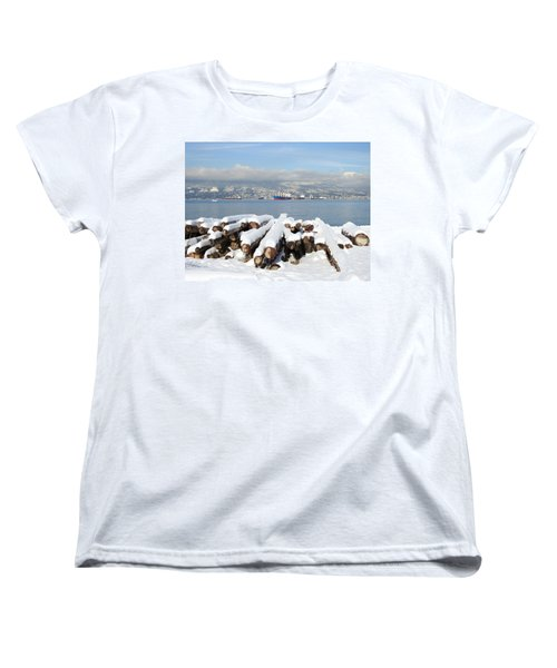 Vancouver Winter Women's T-Shirt (Standard Cut) by Brian Chase