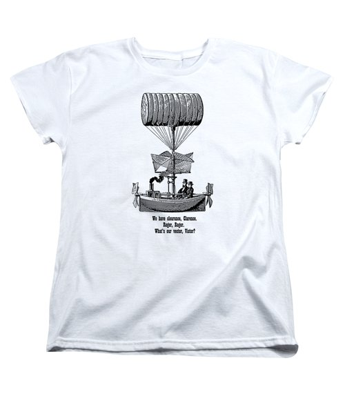 Vector Victor Vintage Airship Women's T-Shirt (Standard Cut) by Barbara St Jean
