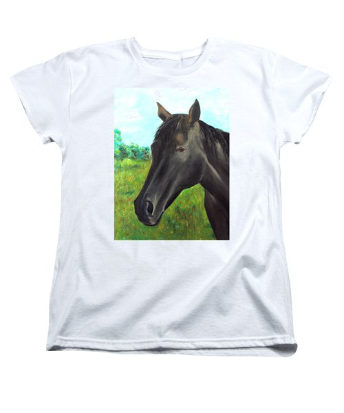 Women's T-Shirt (Standard Cut) featuring the painting Velvet by Elizabeth Lock
