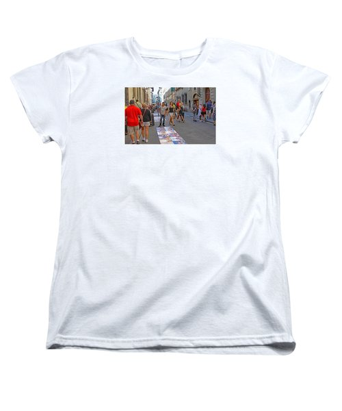 Vendors Selling Reproductions On The Street Women's T-Shirt (Standard Cut) by Allan Levin