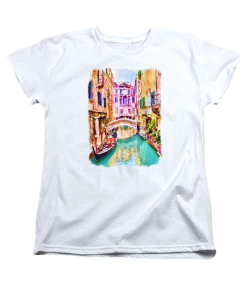 Venice Canal 2 Women's T-Shirt (Standard Cut) by Marian Voicu