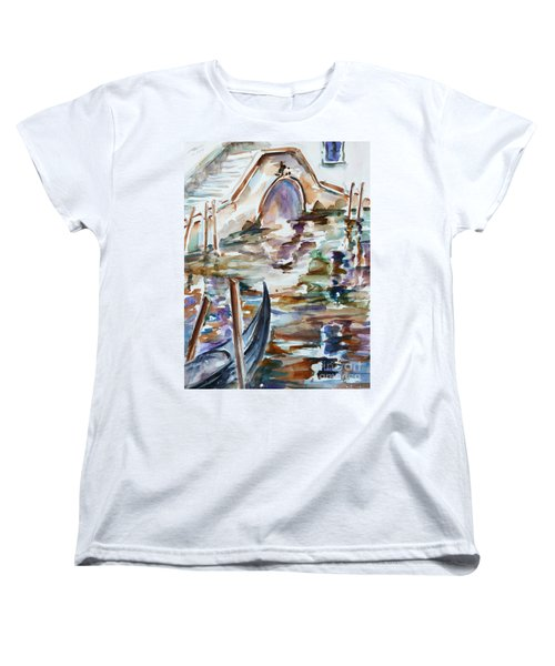 Women's T-Shirt (Standard Cut) featuring the painting Venice Impression I by Xueling Zou