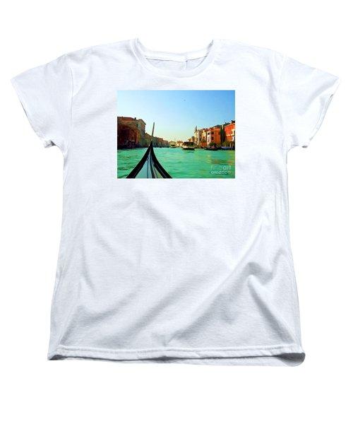Women's T-Shirt (Standard Cut) featuring the photograph Venice Waterway by Roberta Byram